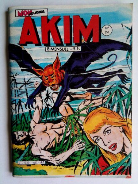BD AKIM N°552 Les créatures de la nuit - Editions MON JOURNAL 1982