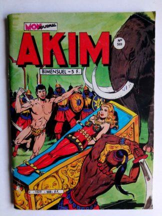 BD AKIM N°569 Le temple d'ivoire - Editions MON JOURNAL 1983