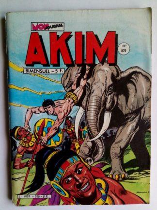 BD AKIM N°570 La pierre de justice - Editions MON JOURNAL 1983