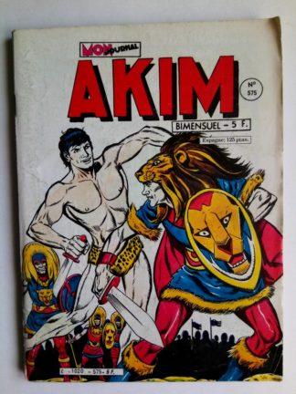 BD AKIM N°575 Intrigue de cour - Editions MON JOURNAL 1983