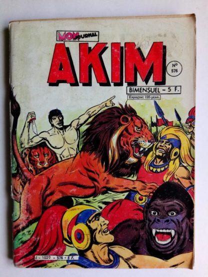 BD AKIM N°576 Le vieux souterrain - Editions MON JOURNAL 1983