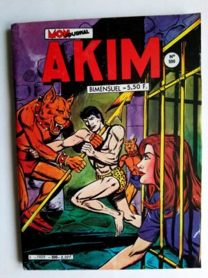 BD AKIM N°590 Le prisonnier muet - Editions MON JOURNAL 1984