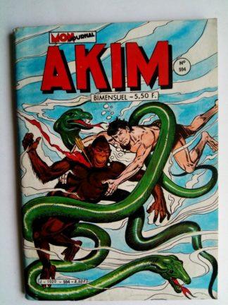 BD AKIM N°594 Retour de l'invisible - Editions MON JOURNAL 1984