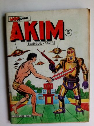 BD AKIM N°597 Mission extra-terrestre - Editions MON JOURNAL 1984