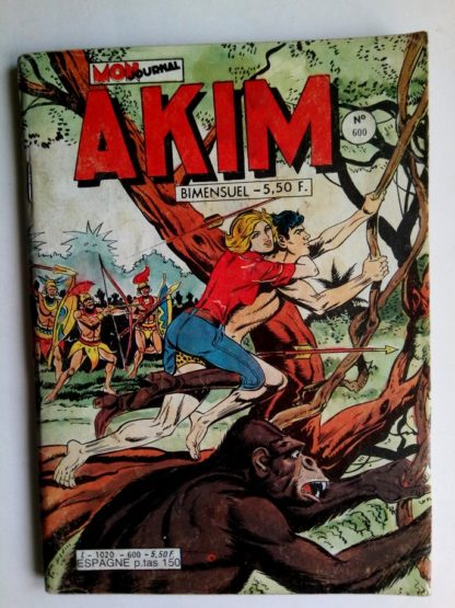 BD AKIM N°600 Trois sicaires - Editions MON JOURNAL 1984