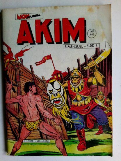 BD AKIM N°605 La forêt perdue - Editions MON JOURNAL 1984