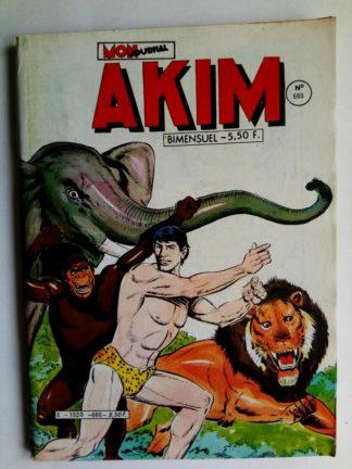 BD AKIM N°608 Les gorilles font le ménage - Editions MON JOURNAL 1984