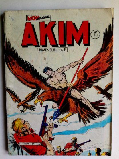 BD AKIM N°611 Les deux justiciers - Editions MON JOURNAL 1984