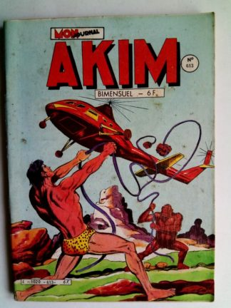 BD AKIM N°613 Poursuite dans la jungle - Editions MON JOURNAL 1985