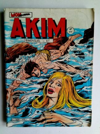 BD AKIM N°614 Le serpent donne l'alarme - Editions MON JOURNAL 1985