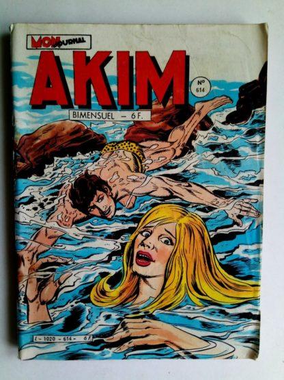 BD AKIM N°614 Le serpent donne l'alarme - Editions MON JOURNAL 1985
