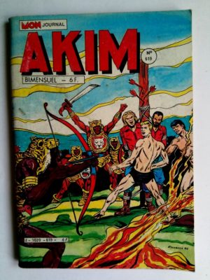BD AKIM N°619 La jungle endormie - Editions MON JOURNAL 1985
