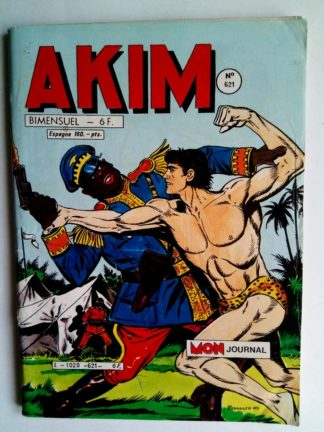 BD AKIM N°621 Un cow-boy dans la jungle - Editions MON JOURNAL 1985