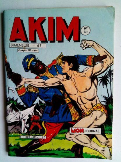 BD AKIM N°621 Un cow-boy dans la jungle - Editions MON JOURNAL 1985