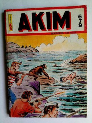 BD AKIM N°679 Le requin noir - Editions MON JOURNAL 1987