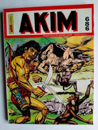BD AKIM N°686 La main de feu - Editions MON JOURNAL 1988