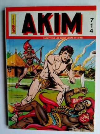 BD AKIM N°714 La vengeance des dieux - Editions MON JOURNAL 1989