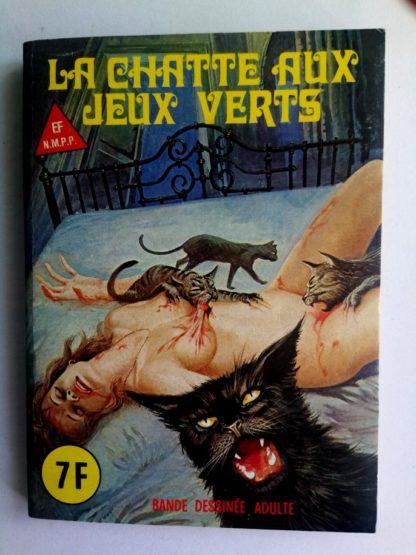 BD SERIE BLEUE N°75 La chatte aux yeux verts - ELVIFRANCE 1981