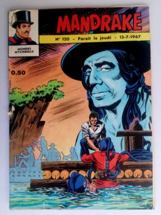 BD MANDRAKE N°120 Le fantôme volant - Remparts 1967