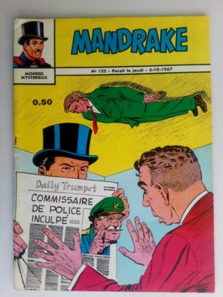 BD MANDRAKE N°132 Le procès du commissaire - Remparts 1967