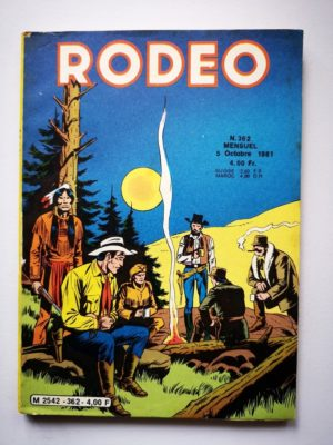 RODEO N°362 TEX WILLER (Mission à Great Falls – fin) LUG 1981