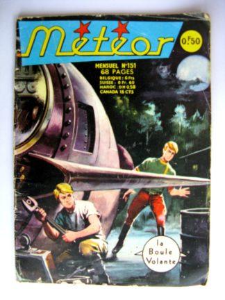 BD METEOR (2e SERIE) n°151 La boule volante - AREDIT 1967