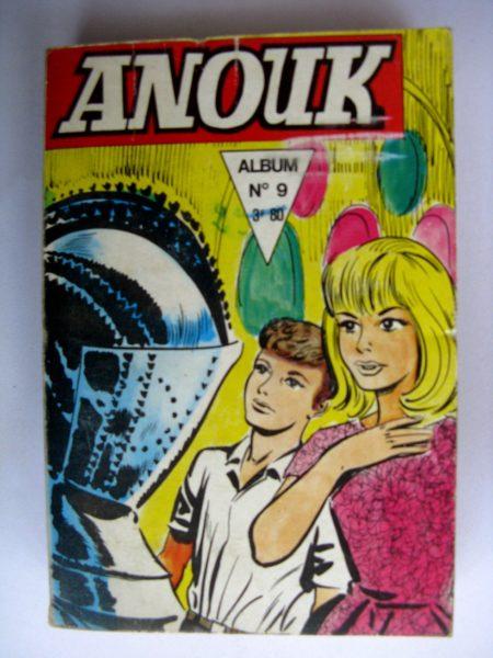 BD ANOUK ALBUM 9 (N°32-33-34) Jeunesse et Vacances 1971