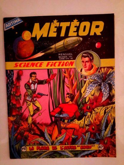 BD METEOR (1e SERIE) n°61 La Flore de l'Astre Eden (ARTIMA 1958)