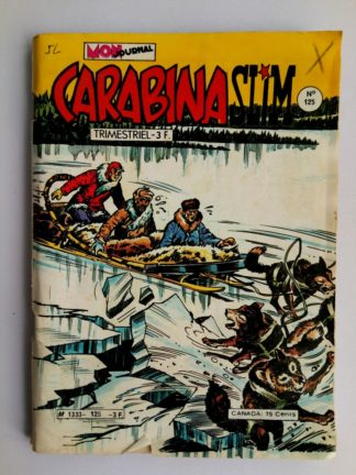 BD CARABINA SLIM N°125 Mon Journal 1980 La rivière du Cayote