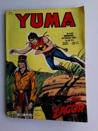 BD YUMA N°220 LUG 1981 - Petit Format