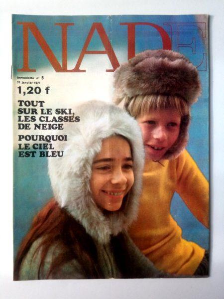 NADE N° 5(31 janvier 1971) Les jumelles - L'abominable élève des neiges - Janine Lay