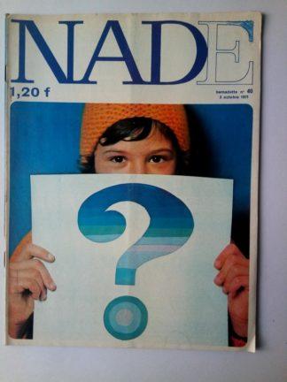 NADE N° 40 Les jumelles - La Clef (3 octobre 1971) Janine Lay