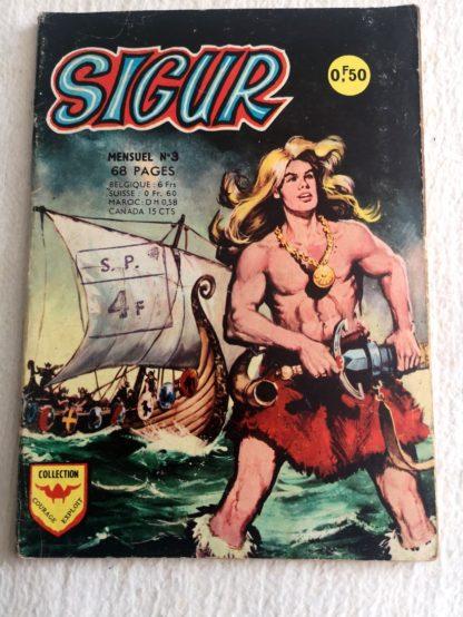 SIGUR N° 3 La Tempête (AREDIT 1967) - BD historiques et d'aventures