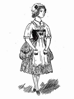 BLEUETTE – déguisement de bouquetière Louis XV – 296
