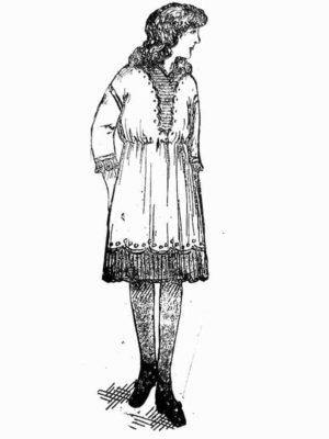 BLEUETTE – Robe d'été 1913 – Patron de poupée – 300