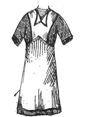 BLEUETTE – Tablier à bavette 1913 – Patron de poupée – 302