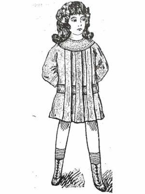 BLEUETTE – Tablier de classe 1913 – Patron de poupée – 304