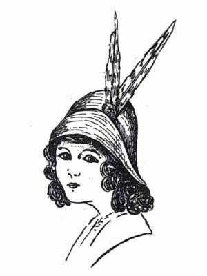 BLEUETTE – Chapeau d'été 1913 – Patron de poupée – 306
