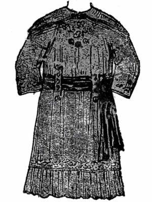 BLEUETTE – Robe habillée 1913 – Patron de poupée – 308