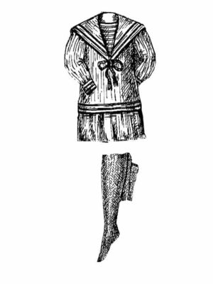 BLEUETTE – Costume de pêcheuse – Patron de poupée – 309 – 310