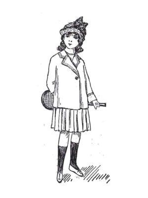 BLEUETTE – Costume de tennis – Patron de poupée – 311