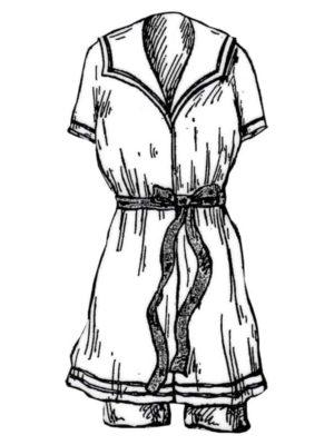 BLEUETTE – Costume de bains de mer – Patron de poupée – 312