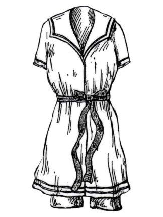 BLEUETTE - Costume de bains de mer - Patron de poupée