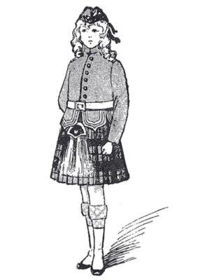 BLEUETTE – Costume d'écossaise – Patron de poupée – 436 – 437