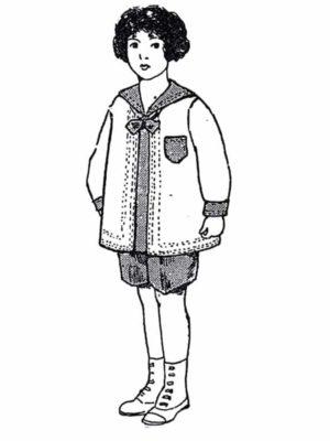 BLEUETTE – Costume de petit marin – Patron de poupée – 422 – 423