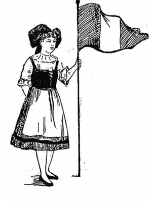 BLEUETTE – Costume d'Alsacienne – Patron de poupée – 358