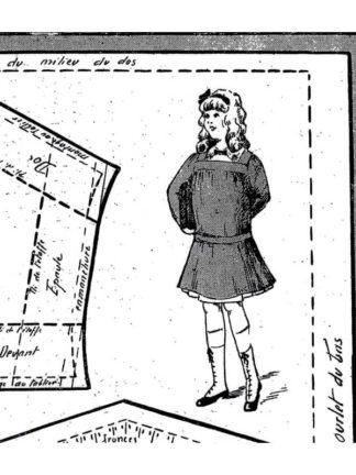 BLEUETTE – Tablier d'écolière 1915 – Patron de poupée
