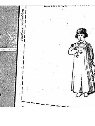 BLEUETTE – Chemise de nuit en shirting, percale – Patron de poupée