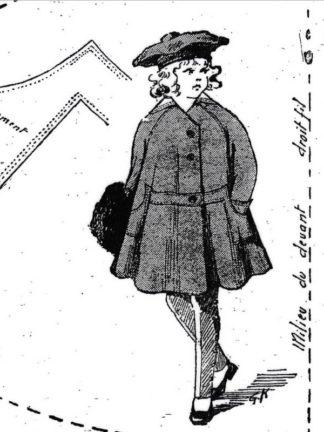 BLEUETTE – Paletot 1917 – Patron de poupée