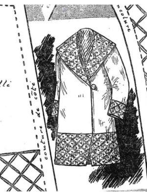 BLEUETTE – Manteau habillé